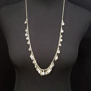 LOFT crystal teardrop necklace